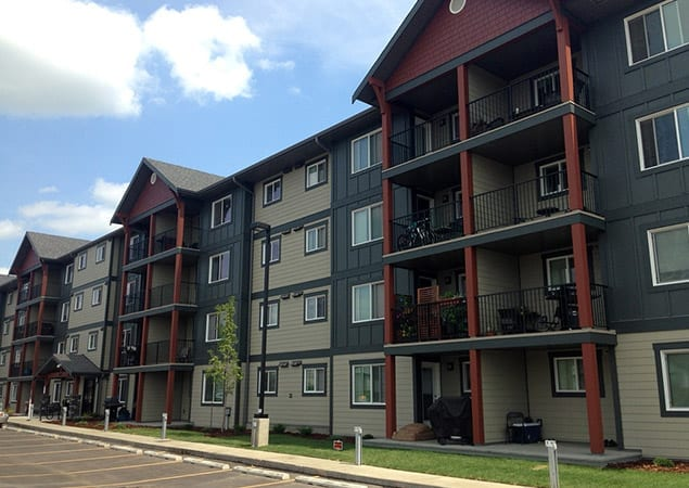 Skyline Living Apartment building offering two months free rent for fire victims