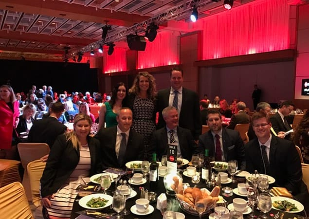 Representatives from the Skyline Group of Companies at the 2016 Ontario Business Achievement Awards.