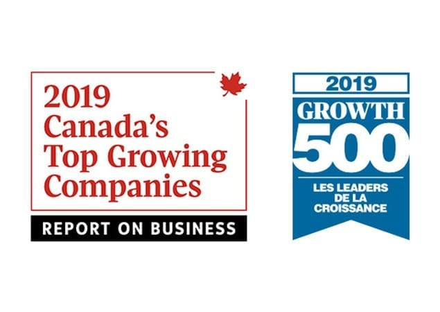 Top Growing Companies and Growth 500 Award Logos for 2019