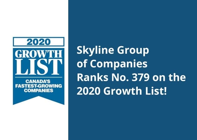 Skyline Group of Companies Ranks No. 379 on the 2020 Growth List
