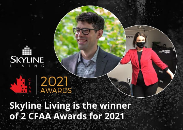 Skyline Living Wins 2 CFAA Awards for 2021