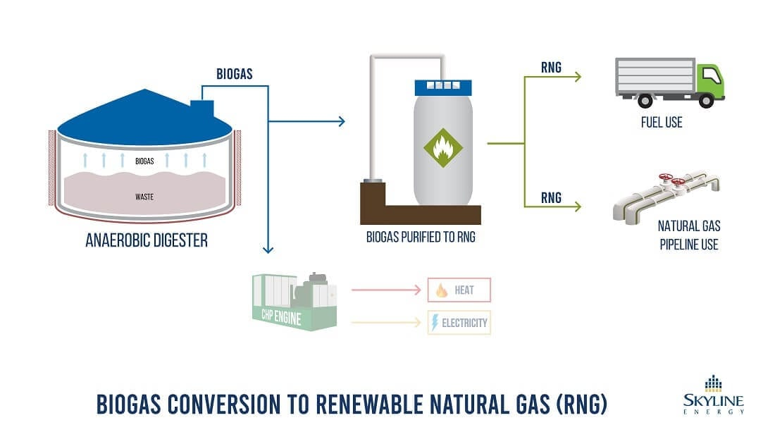 Skyline Clean Energy Fund - Biogas to RNG diagram