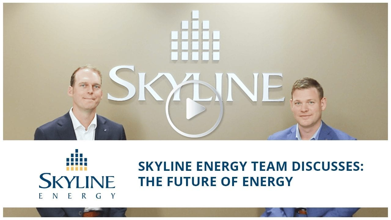 Rob Stein, President of Skyline Energy, with Tyler Balding, the Director of Business Development